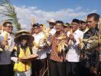 Menteri Pertanian Syahrul Yasin Limpo Melakukan Panen Dan Tanam Perdana Jagung Hibrida di Aceh