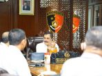 Kabareskrim Polri, Komjen Pol Agus Andrianto menerima kunjungan BKIPM diruang kerjanya, Rabu, (17/3/2021).
